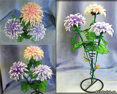 """Прекрасным примером для подражания станет мастер класс  """"Цветы из бисера. .  Георгин """"."""