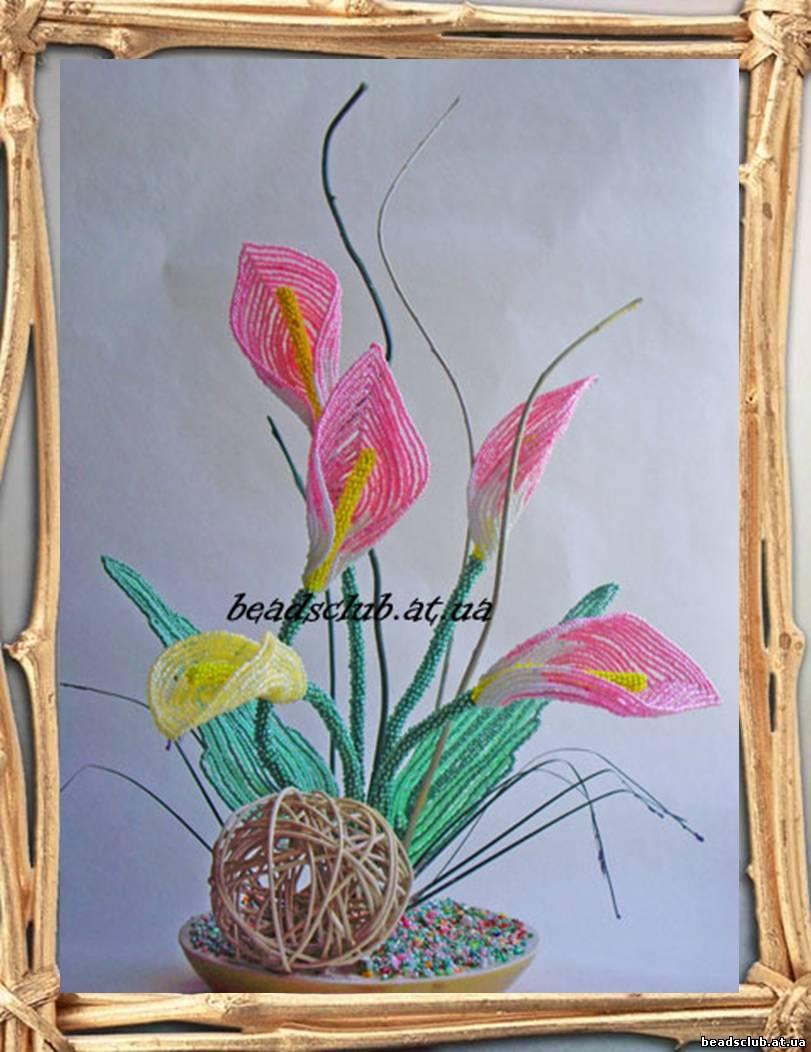 Схема цветка каллы из бисера Бисероплетение.