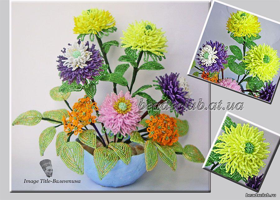 Бисероплетение схемы хризантемы