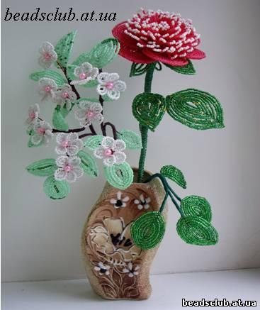 плетению цветов из бисера